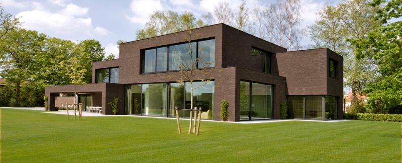 Totaalproject moderne villa waregem spherebox for Villas modernes photos